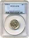 Image of 1929-S 5c PCGS AU58