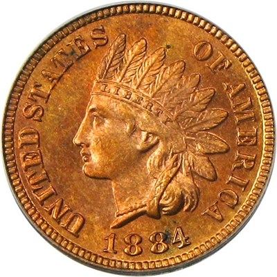 Image of 1884 1c PCGS Proof 63 RB