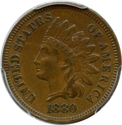 Image of 1880 1c PCGS XF45