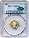 Image of 1876 3cN PCGS/CAC Proof 64 Cameo