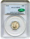 Image of 1915 10c PCGS/CAC MS65  - No Reserve!