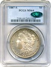 Image of 1887-S $1 PCGS/CAC MS64 - No Reserve!