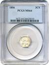 Image of 1856 3cS PCGS MS64
