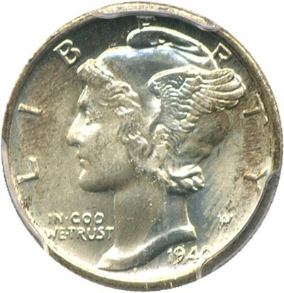 Image of 1940-S 10c PCGS MS65 FB