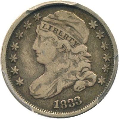 Image of 1833 10c PCGS/CAC F12