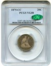 Image of 1875-CC 20c PCGS/CAC VG-8 - Carson City Issue - No Reserve!
