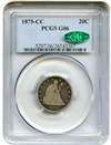 Image of 1875-CC 20c PCGS/CAC Good-6 - Carson City Issue  - No Reserve!