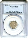 Image of 1893-S 10c PCGS AU50