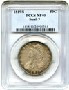Image of 1819/8 50c PCGS XF40 (Small 9)