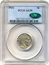 Image of 1921 5c PCGS/CAC AU55