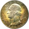 Image of 1947-D 25c PCGS/CAC MS67 - Gorgeous Obverse Toning