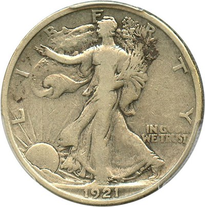 Image of 1921 50c PCGS F12