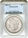 Image of 1889-CC $1 PCGS AU53 - Key Date