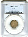 Image of 1834 10C PCGS VF25 (Large 4)