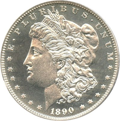 Image of 1890 $1 PCGS/CAC Proof 64 Cameo