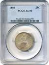 Image of 1859 25c PCGS AU50