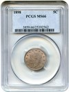 Image of 1898 5c PCGS MS66 - Colorful Toning - Unreserved Lot!