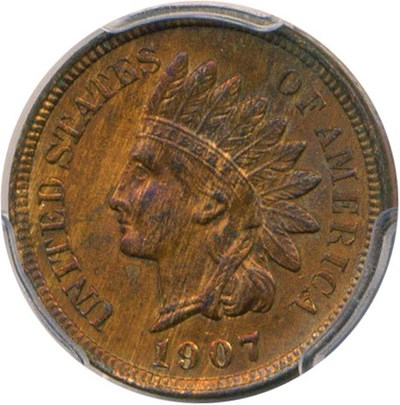 Image of 1907 1c PCGS MS64 RB