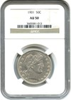 Image of 1901 50c NGC AU50 - No Reserve!