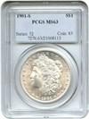 Image of 1901-S $1 PCGS MS63