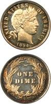 Image of 1894 10c PCGS/CAC Proof 65 CAM - No Reserve!