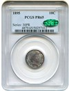 Image of 1895 10c PCGS/CAC Proof 65 - Rich Colorful Toning