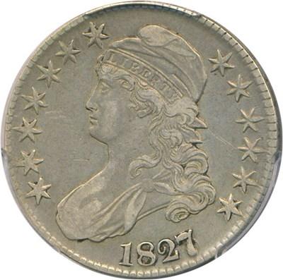 Image of 1827/6 50c PCGS VF35 (Overton 101)