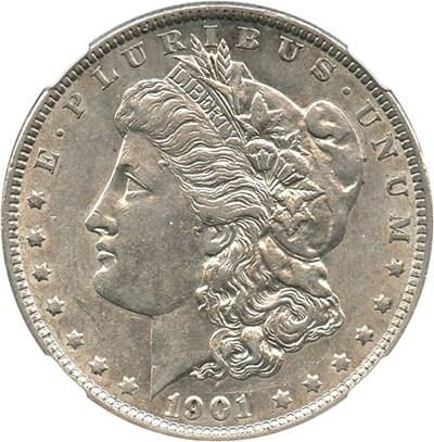 Image of 1901 $1 NGC AU58 - Key Date
