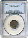 Image of 1889 1c PCGS MS63 BN - No Reserve!