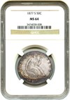 Image of 1877-S 50c NGC MS64 - Unreserved Lot!