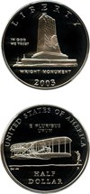 Image of 2003-P First Flight 50c PCGS Proof 69 DCAM - No Reserve!