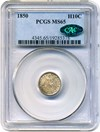 Image of 1850 H10c PCGS/CAC MS65 - No Reserve!