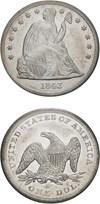 Image of 1843 $1 PCGS AU55