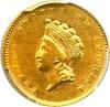 Image of 1854 G$1 PCGS AU55 - Scarce Type 2 Gold Dollar