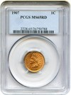 Image of 1907 1c PCGS MS65 RD