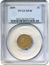 Image of 1859 1c PCGS XF40 - Popular 1-year type coin