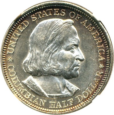Image of 1893 Columbian 50c NGC MS63