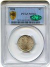 Image of 1898 5c PCGS Secure/CAC MS66 - No Reserve!
