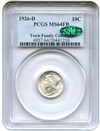 Image of 1926-D 10c PCGS/CAC MS64 FB