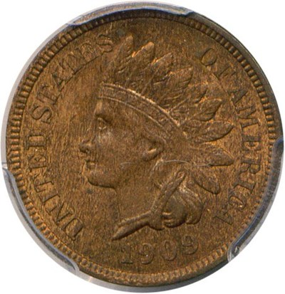 Image of 1909 Indian 1c PCGS MS64 RB