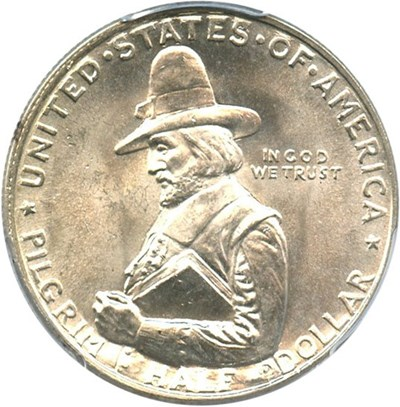 Image of 1920 Pilgrim 50c PCGS MS65