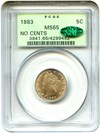 Image of 1883 5c PCGS/CAC MS65 (No Cents) OGH