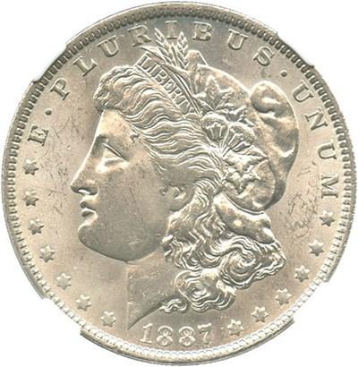 Image of 1887/6-O $1 NGC MS63 (VAM-3) Top 100 VAM
