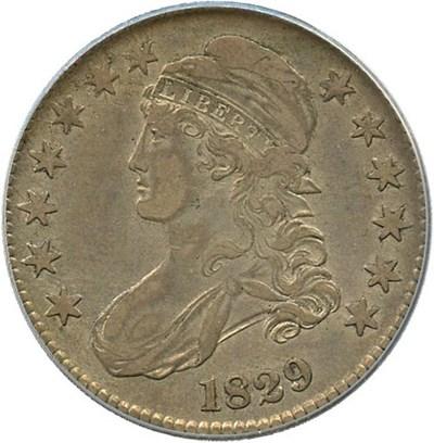 Image of 1829 50c PCGS XF40