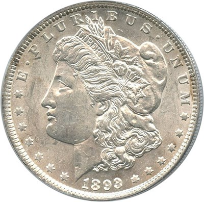 Image of 1893 $1 PCGS MS61