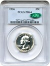 Image of 1936 25c PCGS/CAC Proof 64
