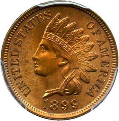 Image of 1899 1c PCGS MS64 RB