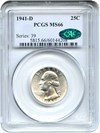 Image of 1941-D 25c PCGS/CAC MS66