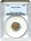 Image of 1907 10c PCGS AU53