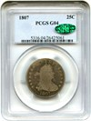 Image of 1807 25c PCGS/CAC Good-4 - Popular Early Bust Quarter - No Reserve!